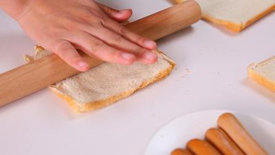 Bánh mì gối cắt viền, cán mỏng