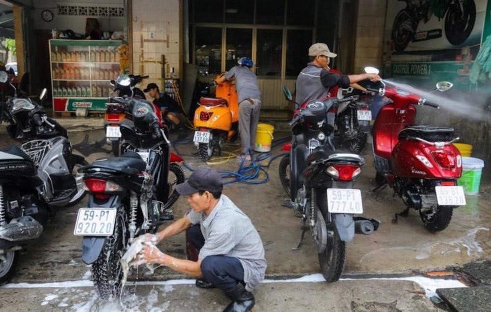 Địa chỉ cung cấp thiết bị rửa xe máy CHẤT LƯỢNG - UY TÍN tại Hà Nội