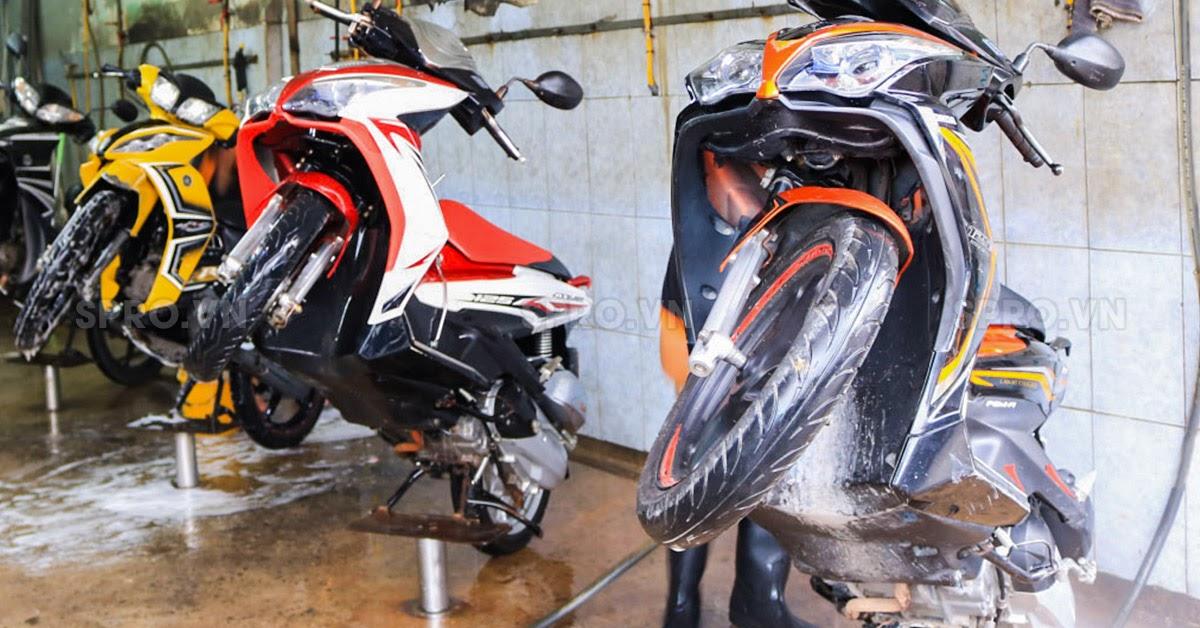 cung cấp thiết bị rửa xe máy