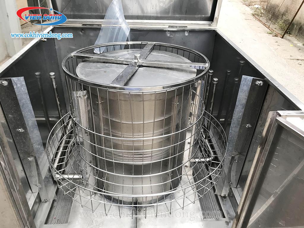 Lồng xoay 360 máy rửa chén bát