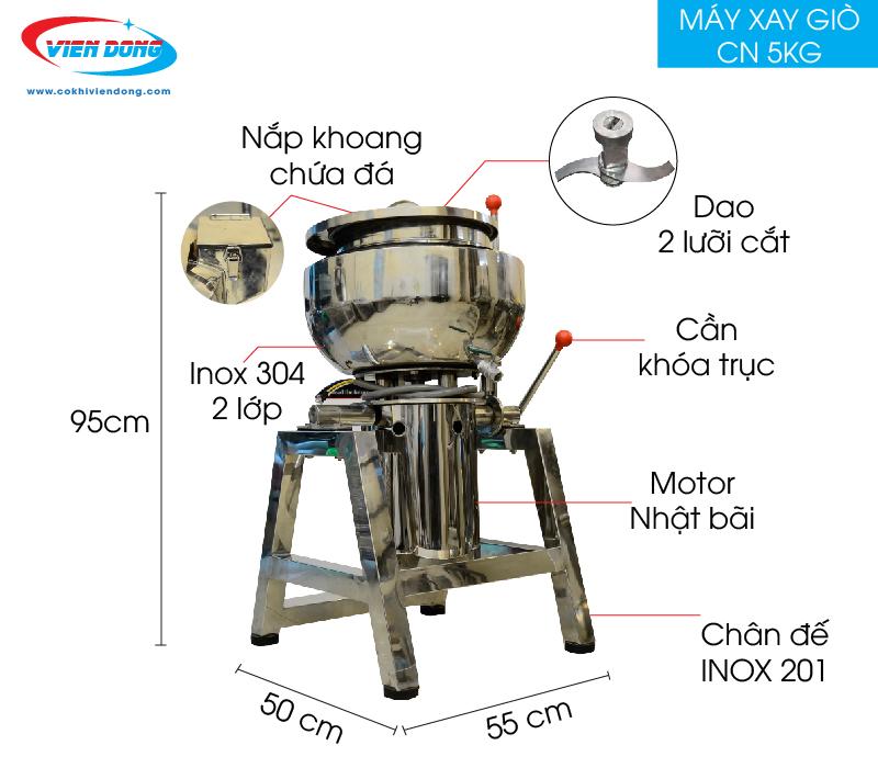 máy xay thịt làm giò 5kg